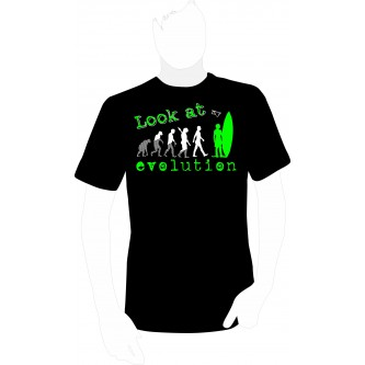 "T-shirt ""Look at my Evolution"" Surfer"