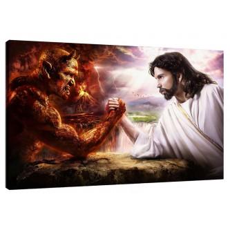"""ΚΑΜΒΑΣ ΚΑΔΡΟΥ """"JESUS&DEVIL"""" KAVJESDEV"""