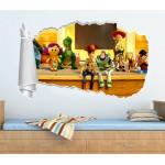 Αυτοκόλλητο διακοσμητικό τοίχου 3D TOYSTORY